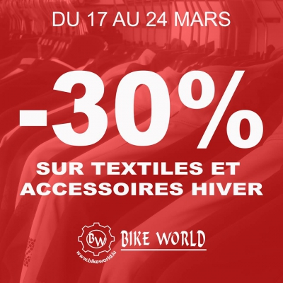 Promo vêtements Bike World Lux